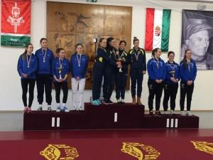 A lányoknál a BVSC kardozói uralták a juniorbajnokságot Fotó: hunfencing.hu